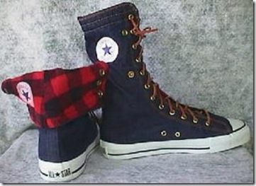 Converse Chuck Taylor All Star NEEHI Denim and Plaid Sneakers