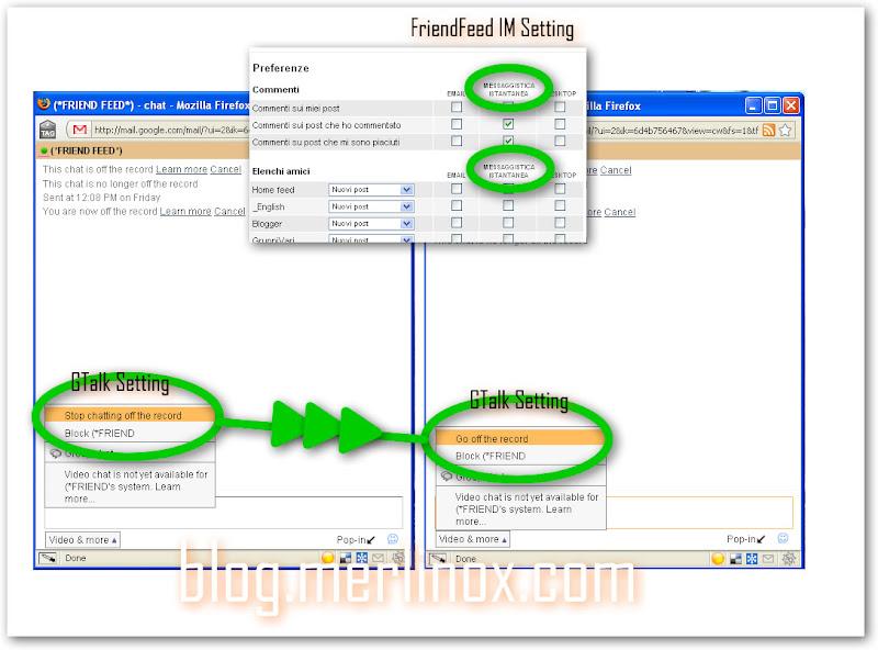Salvare FriendFeed in Gmail: clicca per fullsize.