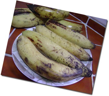Platano maduro, sweet plantains
