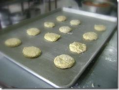 scone on baking tray