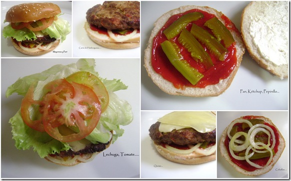 Hamburguesa para un Rey collage
