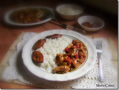 Pollo con pimientos estilo stir fry, comida casera, sazon dominicano