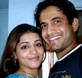 Irfan Pathan with fiancee Shivangi Dev