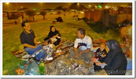Night picnic in Taif