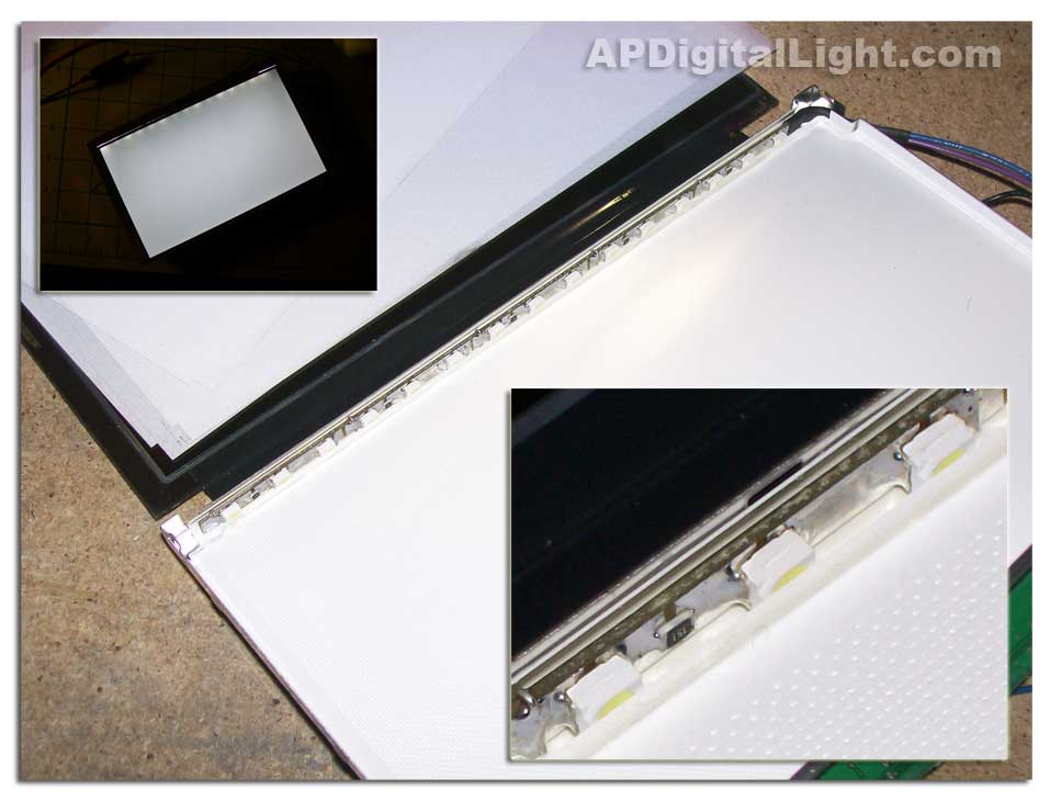 LED strip is mounted into LCD.