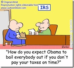 man paying taxes