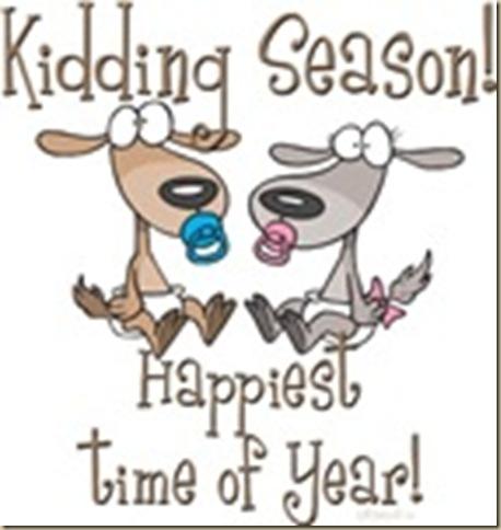 kiddding season