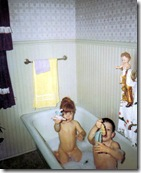 Bonny and Bryan in the tub - March 1967
