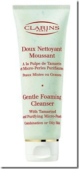 Clarins Gentle Foaming Cleanser with Tamarind and purifying micro-pearls for comb to oily skin