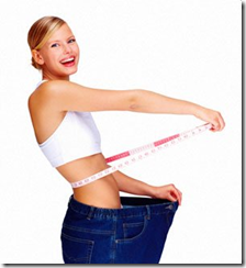 woman happy after loosing weight