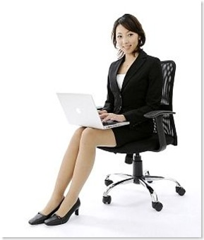 businesswoman sitting gracefully