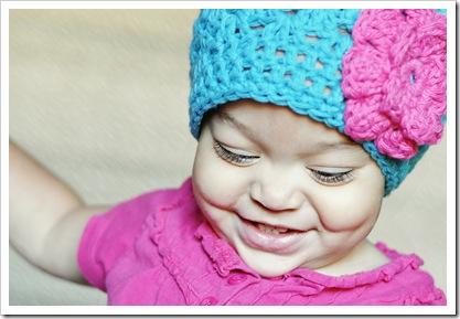 pink n blue hat