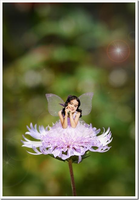 Beauty as a Flower Fairy