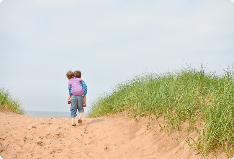 elijah and el on sand dune