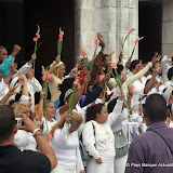 La Havane dimanche midi les femmes des dissidents emprisonnés manifestent