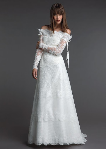 Informal Lace' Wedding Dress Bridal Gown