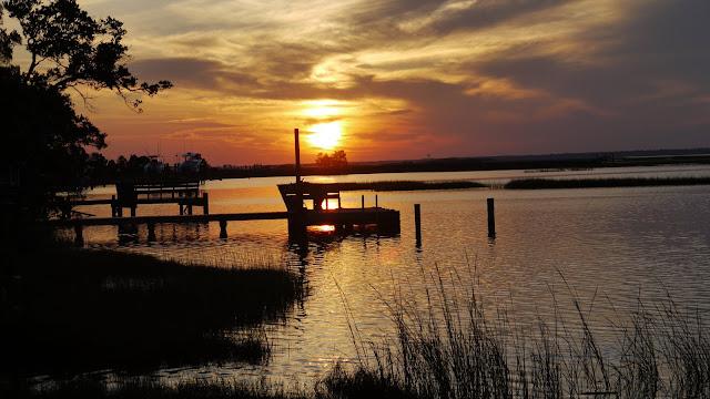 sunset - Cape Emerald a gated subdivision in Emerald Isle North Carolina