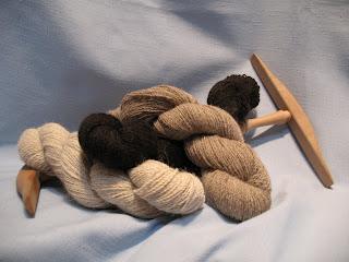 Skeins of llama yarn