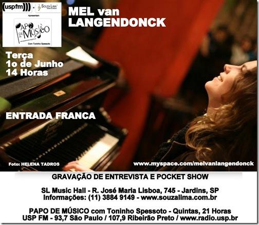 MEL van LANGENDONCK - Papo de Músico (USP FM) - 1-6-2010
