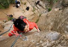 Escalando en Arico07