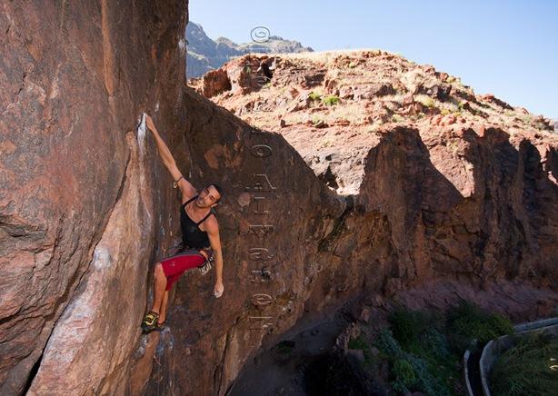Escalar en Canarias, climb in canarias, fataga 27