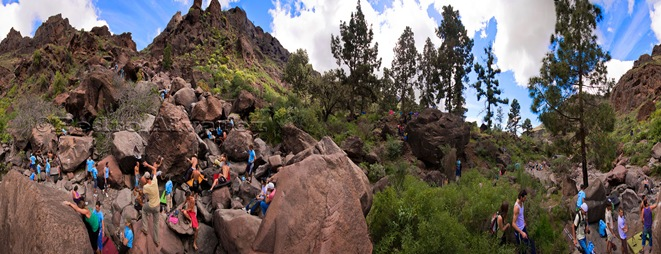 Panoramica Encuentro de bloque de Mogan, boulder Mogan, Gran Canaria Boulder 001
