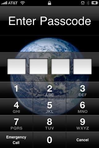 iPhone screen shot