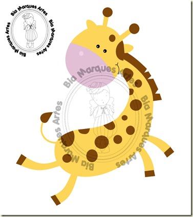 Girafinha bia vetor