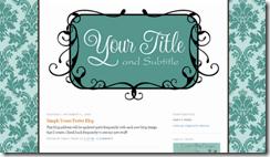 turquoise damask blog