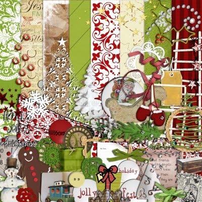 Free Digiscrap Christmas Kit