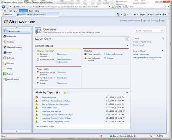 Intune_The_Windows_Intune_Administrator_Console