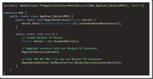 ninject dependcy resolving in asp.net mvc