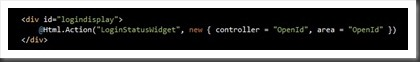 Login status widget