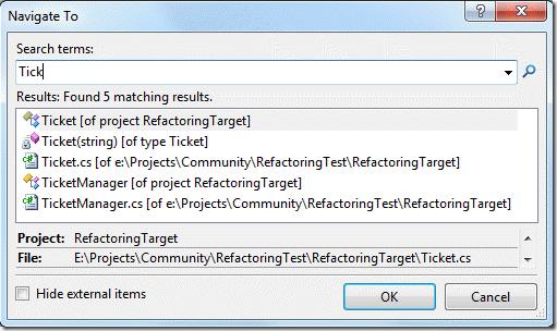 Поиск по коду в Visual Studio 2010