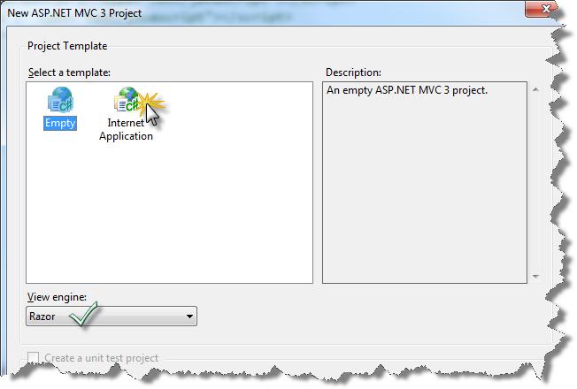 Настройка нового проекта MVC