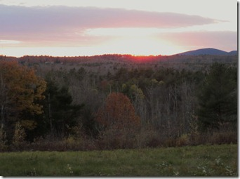 Sunset in New Hampshire