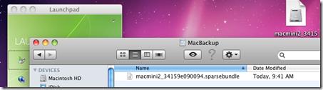 Sparse File Created
