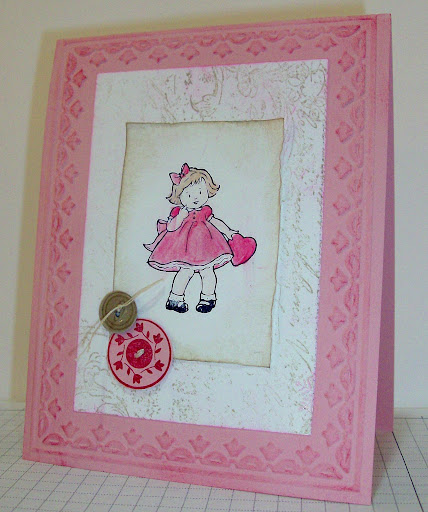 Valentine card featuring Greeting Card Kids stamp set