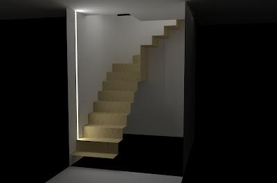 La nostra casetta illuminazione scala mansarda - Illuminazione scale a led ...