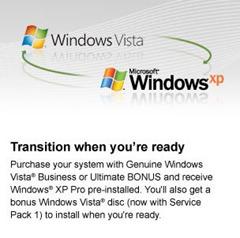 Vista downgrade