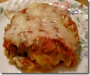 spaghetti squash casserole on plate