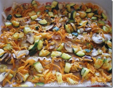 vegetable lasagna assembly 2