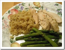 chicken & quinoa dinner