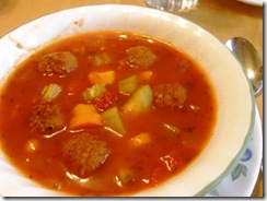 vegetable & meatball soup