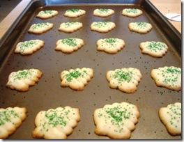 spritz cookies baked