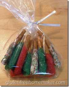 candy coated pretzels - in bag