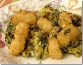 spinach casserole on plate