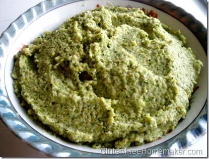 broccoli pesto in bowl