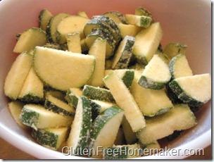 zucchini scramble-floured zucchini