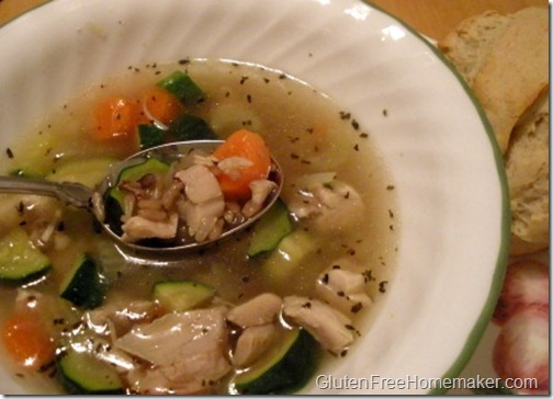 chicken, veggie & wild rice soup
